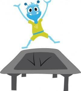 Flip on trampoline
