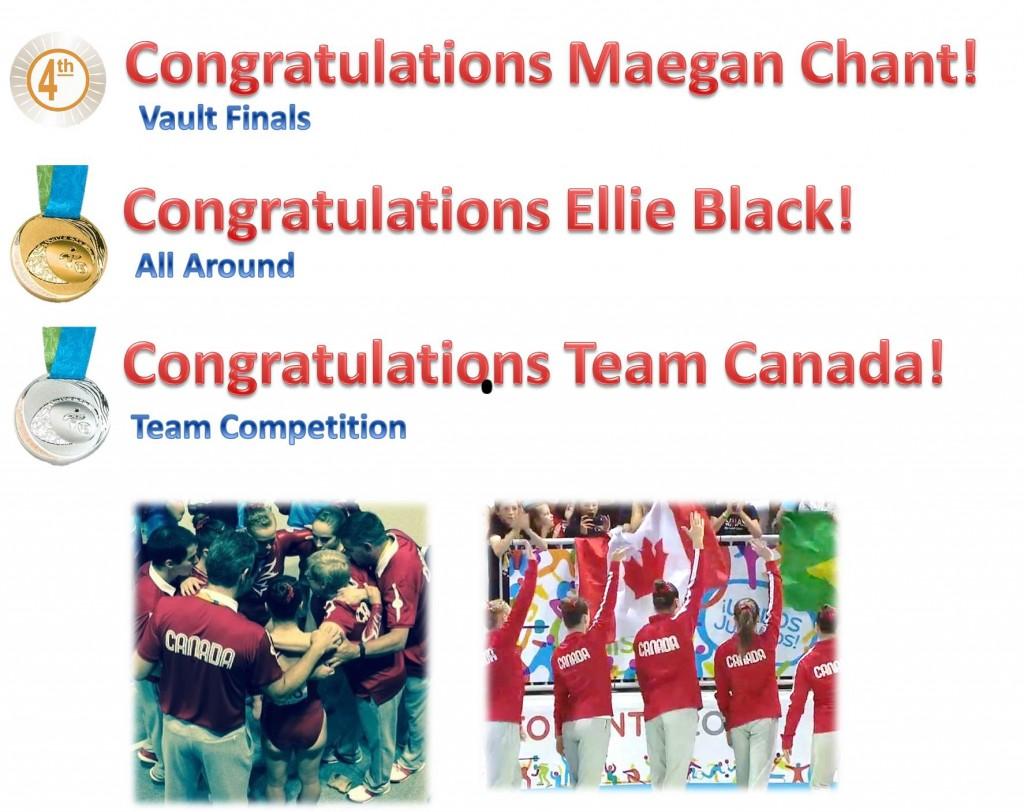 Pan Ams congratulations