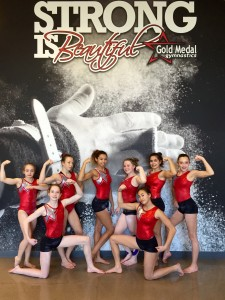 Level 8 Team muscle pose